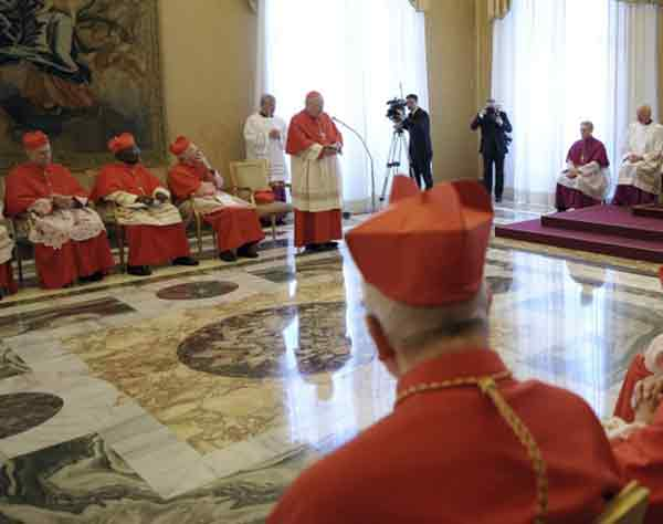 On Monday the cardinals will meet to decide a date for the conclave.