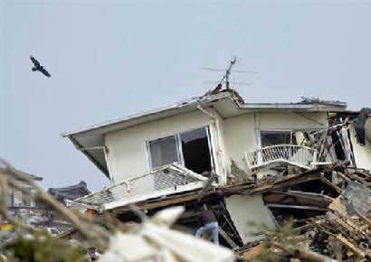 Destruction in Japan.