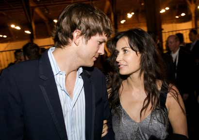 Ashton Kutcher and Demi Moore in happier times.