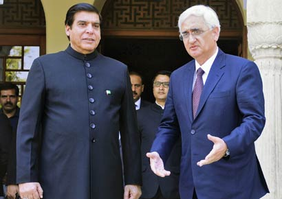 Salman Khurshid and Raja Pervez Ashraf