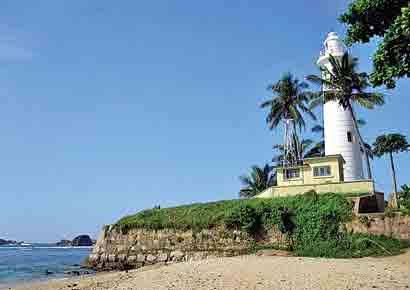 The picturesque light house of Galle, which was built in 1838.