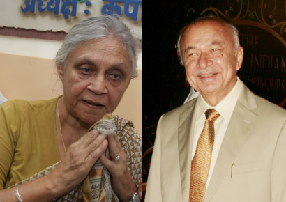 Sheila Dikshit (L) and Sushilkumar Shinde