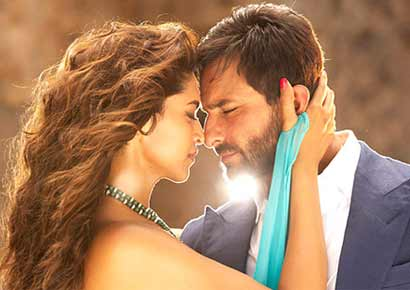 Deepika Padukone and Saif Ali Khan in a still from the film