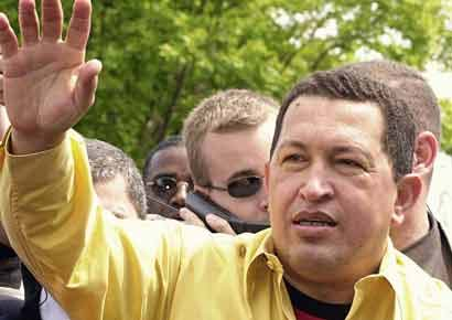A file photo of Hugo Chavez.