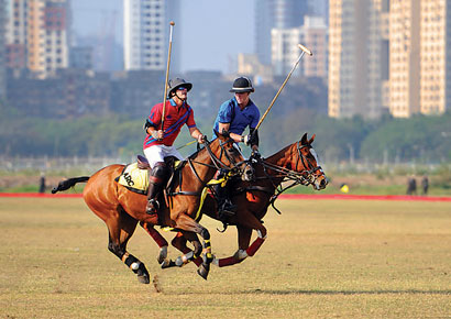 A polo exhibition match at Mahalaxmi on Friday.