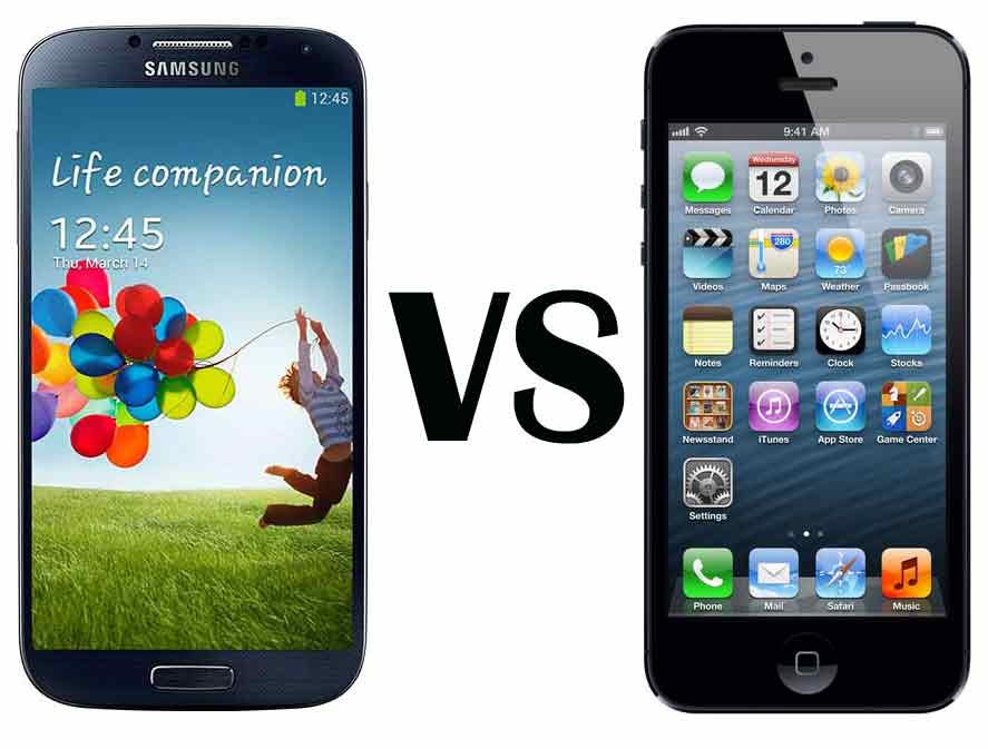 Samsung Galaxy 4 vs iPhone 5