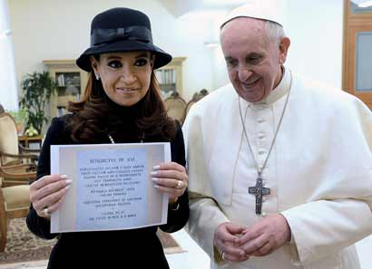 Cristina Kirchner with Pope Francis
