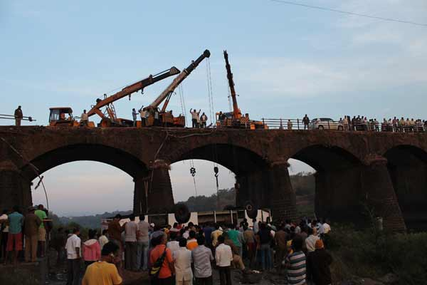 37 dead as bus falls into river