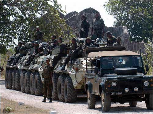 An Armored Force of the Sri Lanka Army