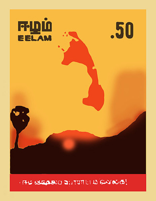 A Tamil Eelam stamp issued by a militant group in 1983.