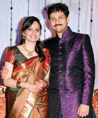 Ramya and Rajesh Krishnan on their wedding day.
