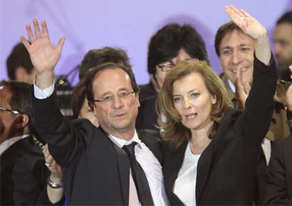 Valerie Trierweiler with Hollande