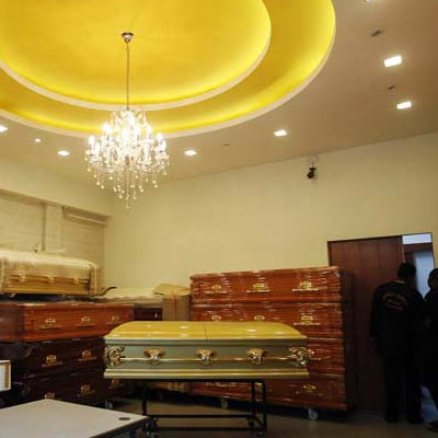A file photo of the coffin of the Delhi gang-rape rape victim at a funeral parlour in Singapore.