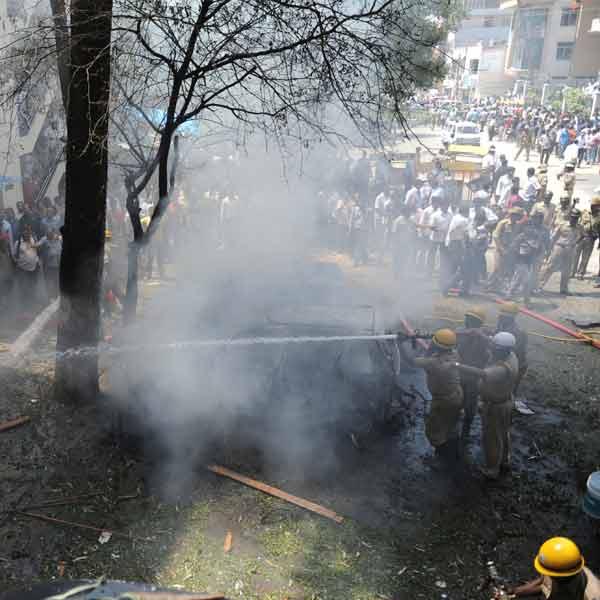 Scene from the Bangalore blast