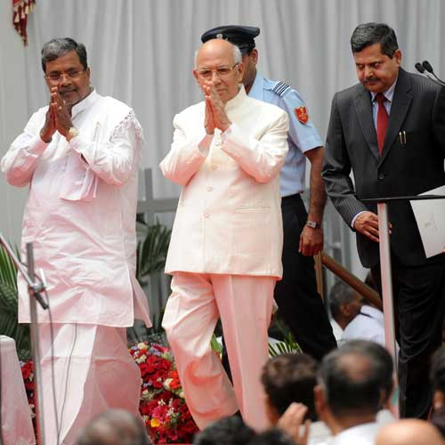 New ministers inducted in Karnataka CM Siddaramaiah's cabinet