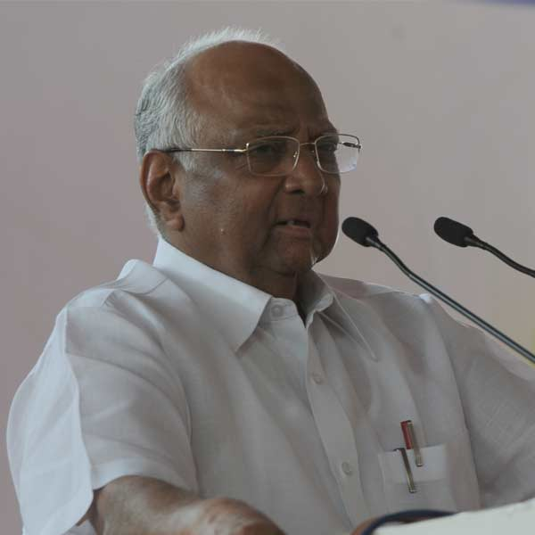 Pawar inaugurated the Bhiwandi-Nizampur City Municipal Corporation's new administrative building, when protesters including three MLAs Rashid Tahir, Abu Azmi and Roopesh Mhatre waved black flags at him.