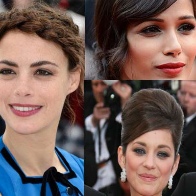 5 stunning 'Pin Up' Hairdos at Cannes. Emma Watson, Marion Cotilard and Freida Pinto
