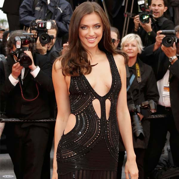 In sheer, plunging dress Irina Shayk narrowly escapes wardrobe malfunction at Cannes