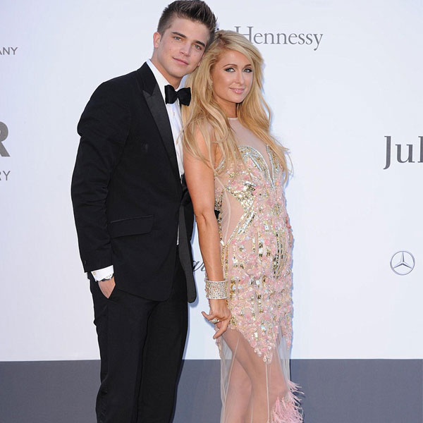 Paris Hilton wears Falguni and Shane Peacock's creation at Cannes