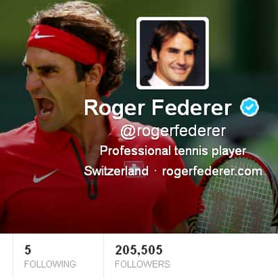 Roger Federer is now on Twitter; joins Rafael Nadal, Novak Djokovic on the social media site