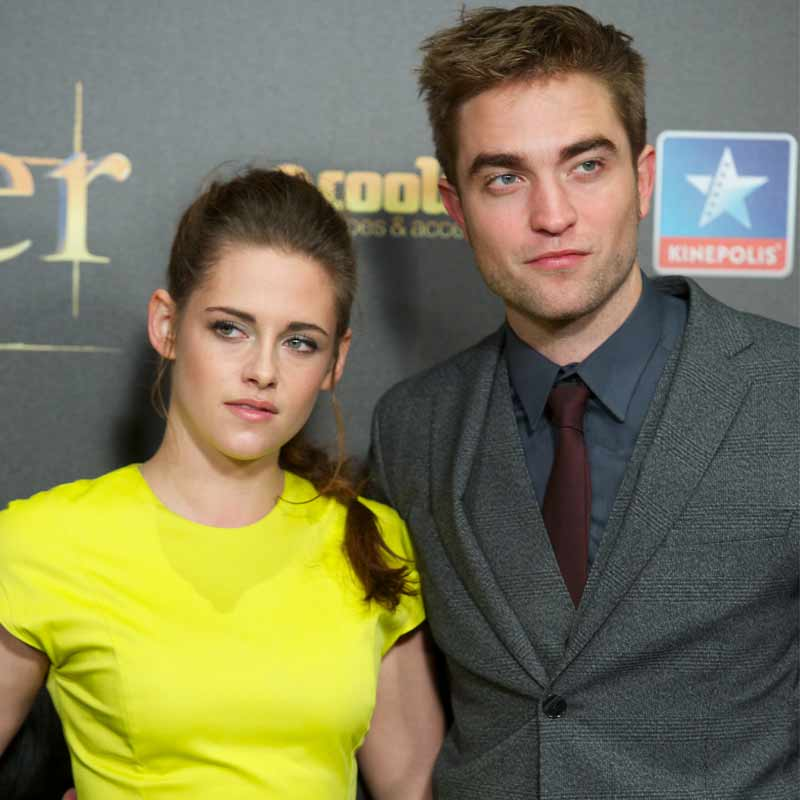 Kristen Stewart  with Robert Pattinson in happier times