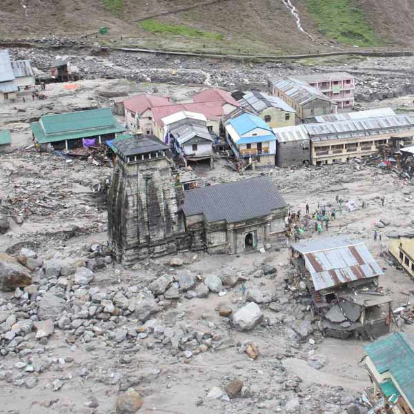 Kedarnath India  city photos gallery : The Kedarnath Temple C is pictured amid damaged surroundings by ...