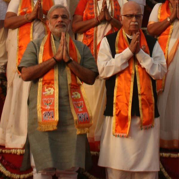 LK Advani and Narendra Modi