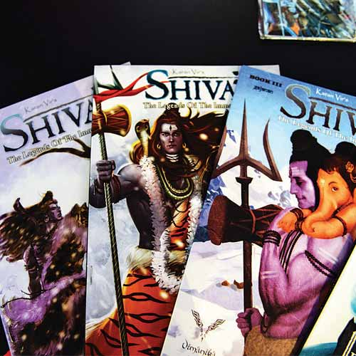 A collection of Vimanika Comics