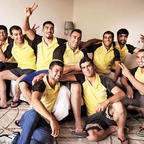 The Afghanistan rugby team in Mumbai for the Asian Rugby Sevens Series.