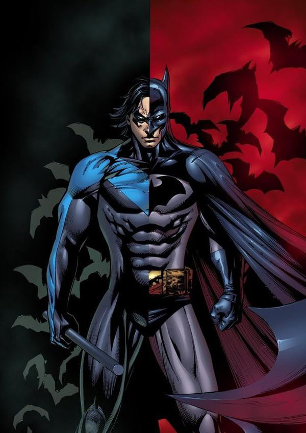 Nightwing, the first Robin to appear in 'Superman vs ...