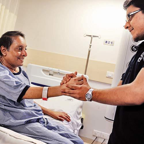 Pandya at the Lilavati Hospital in Bandra.