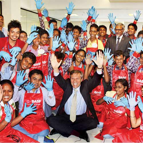 Michael Steiner, ambassador of the Federal Republic of Germany in India, interacted with the students .