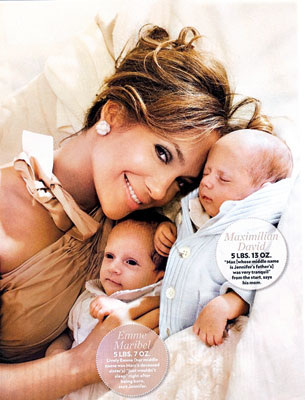 Singers jennifer lopez and marc anthonys twin babies pictures were sold for approximately 6 million to people magazine the former couple who was married