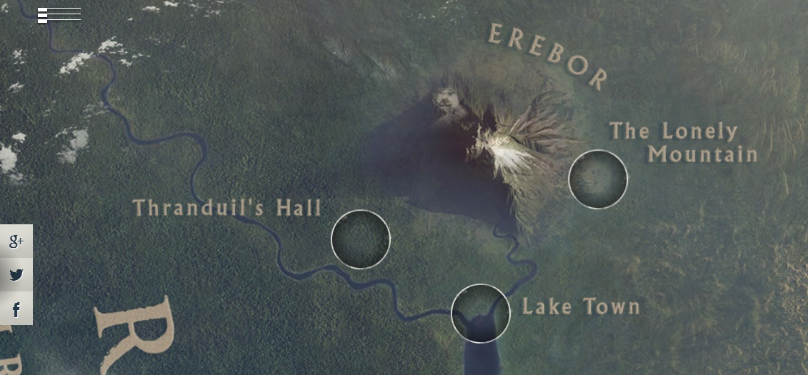 Google creates an interactive map allows us to explore The – 3d Map of Middle Earth