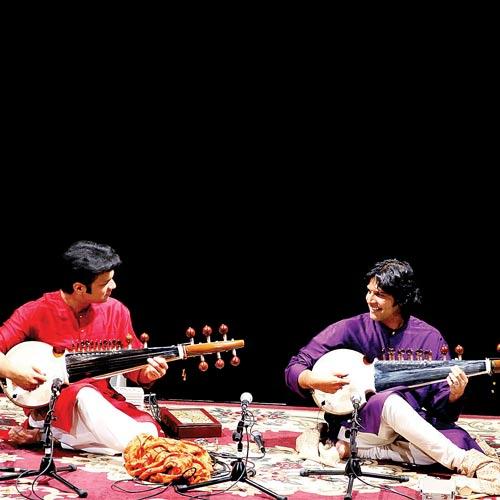 Ayaan and Amaan Ali Khan at a performance