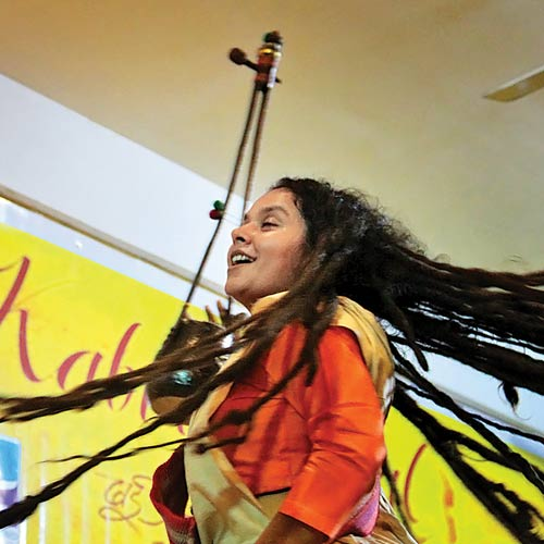 Parvathy Baul, a celebrated Baul singer from West Bengal, at an earlier edition of the fest.