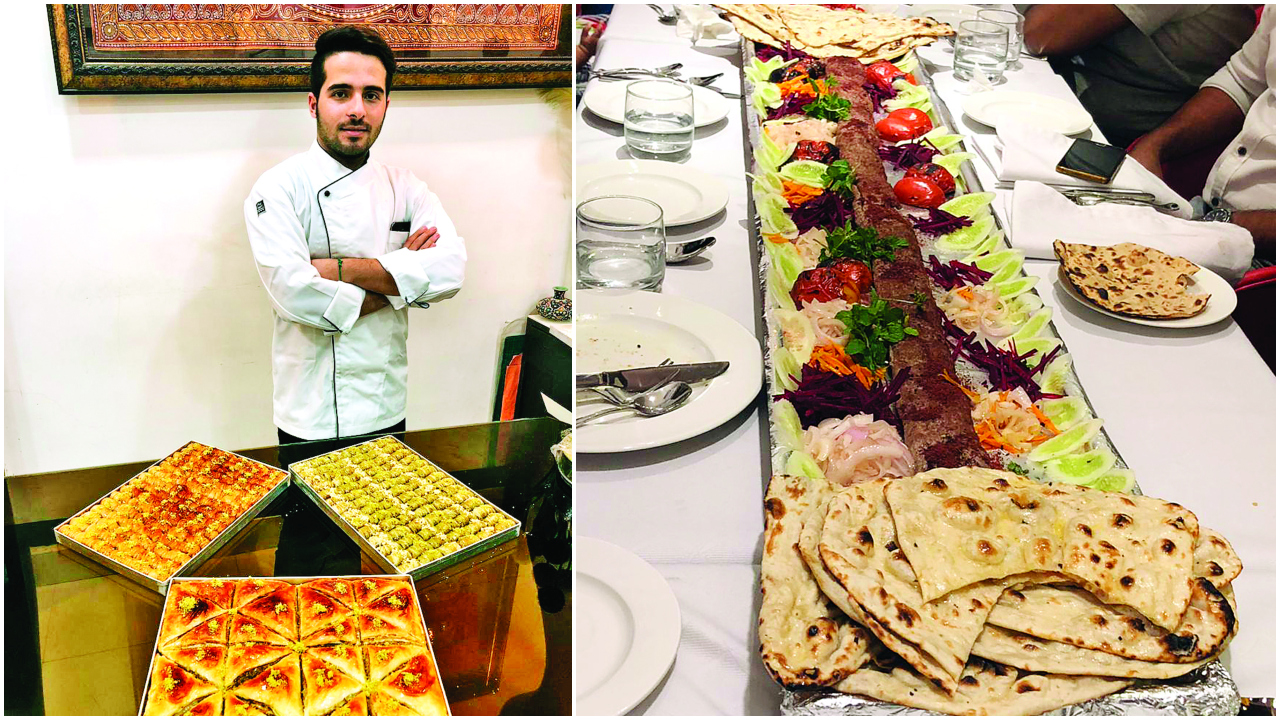 Ready to tuck into this 1.5 metre-long kebab?