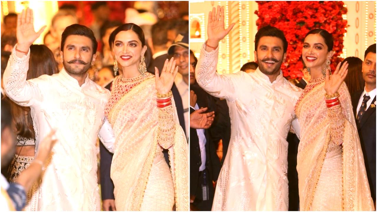 PHOTOS: Ranveer Singh and Deepika Padukone arriving hand-in-hand at Isha Ambani-Anand Piramal wedding is all things love