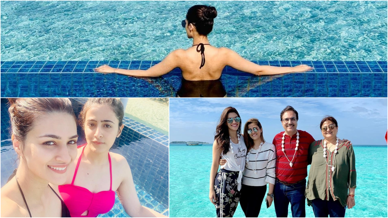 PHOTOS: Kriti Sanon is having a gala time on her Maldives vacay with sister Nupur Sanon and family!