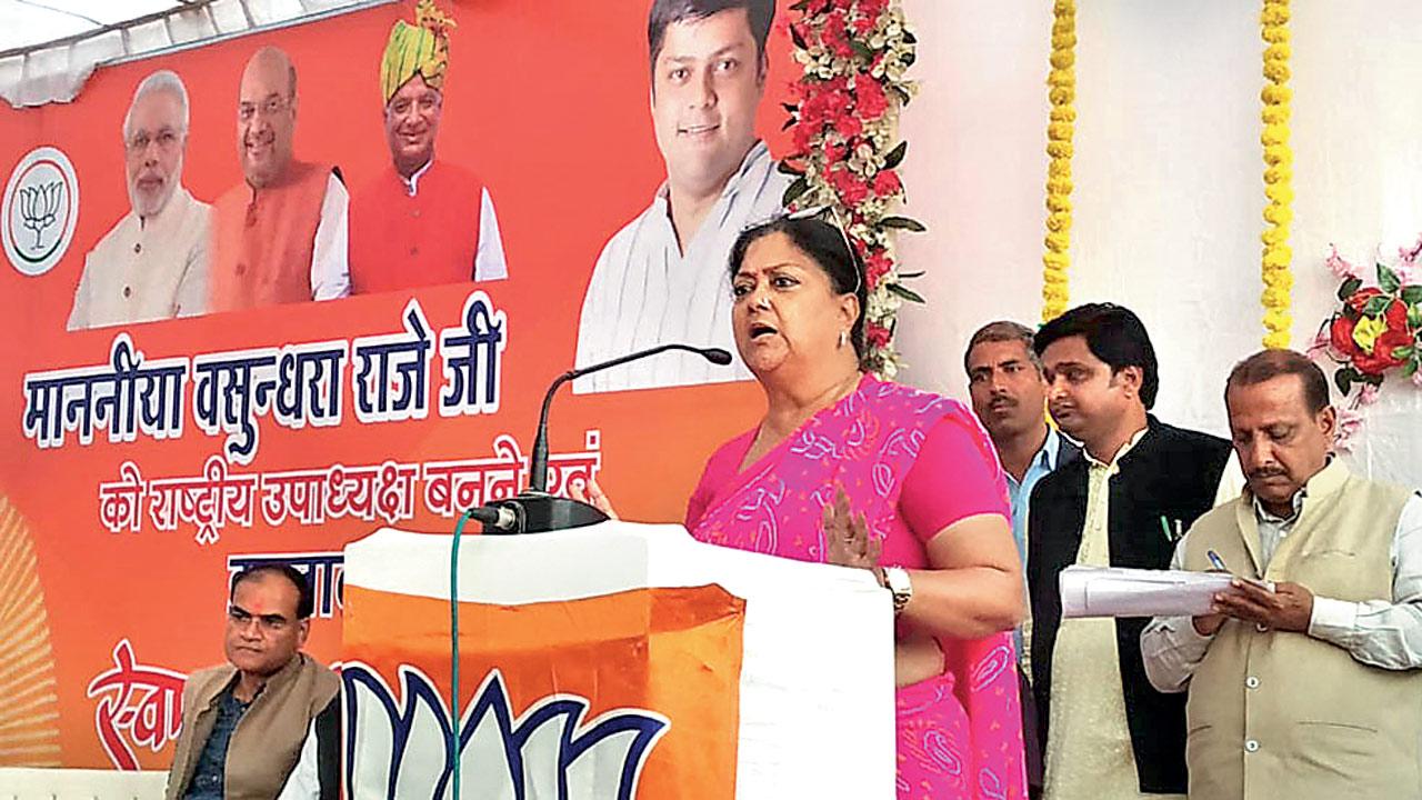I am not going anywhere from Rajasthan: Former CM Vasundhara Raje