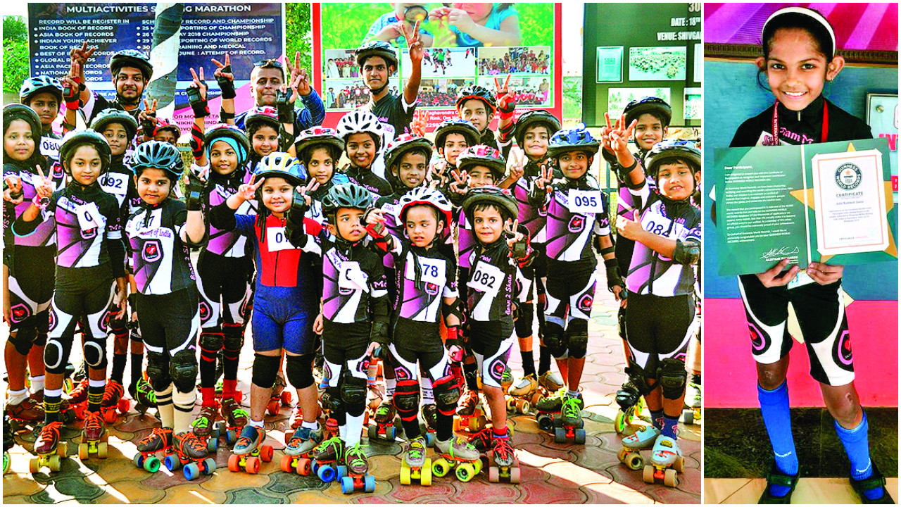 Mumbai: 545 students make Guinness world record by skating for 48 hours straight