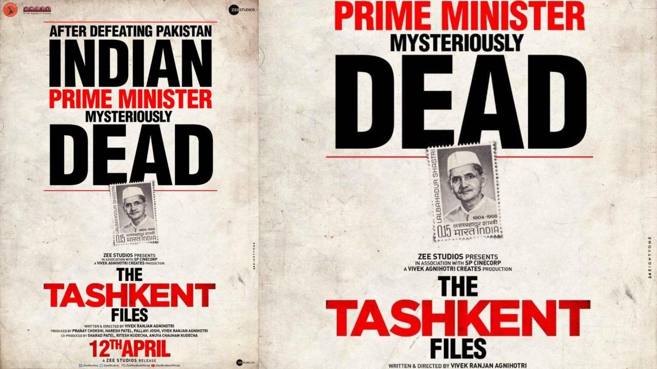 'The Tashkent Files' first poster: Vivek Agnihotri raises questions about Lal Bahadur Shastri's mysterious death