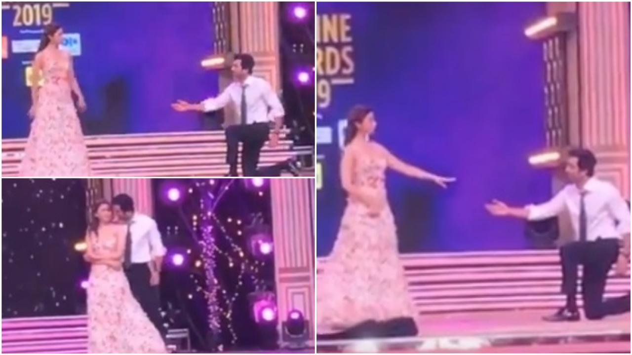 Zee Cine Awards 2019: Ranbir Kapoor goes down on his knees for Alia Bhatt, grooves to 'Ishq Wala Love', WATCH