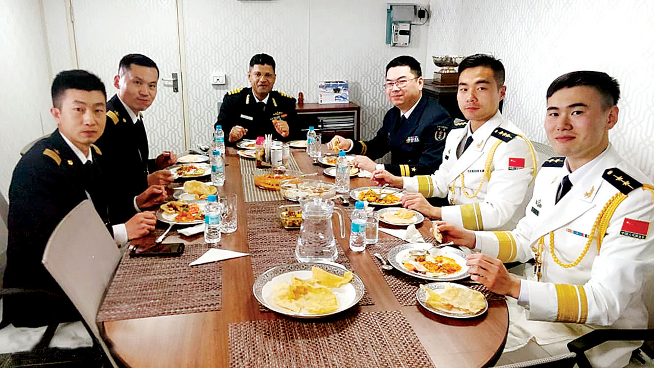 Desi delight for China navymen aboard INS Shakti