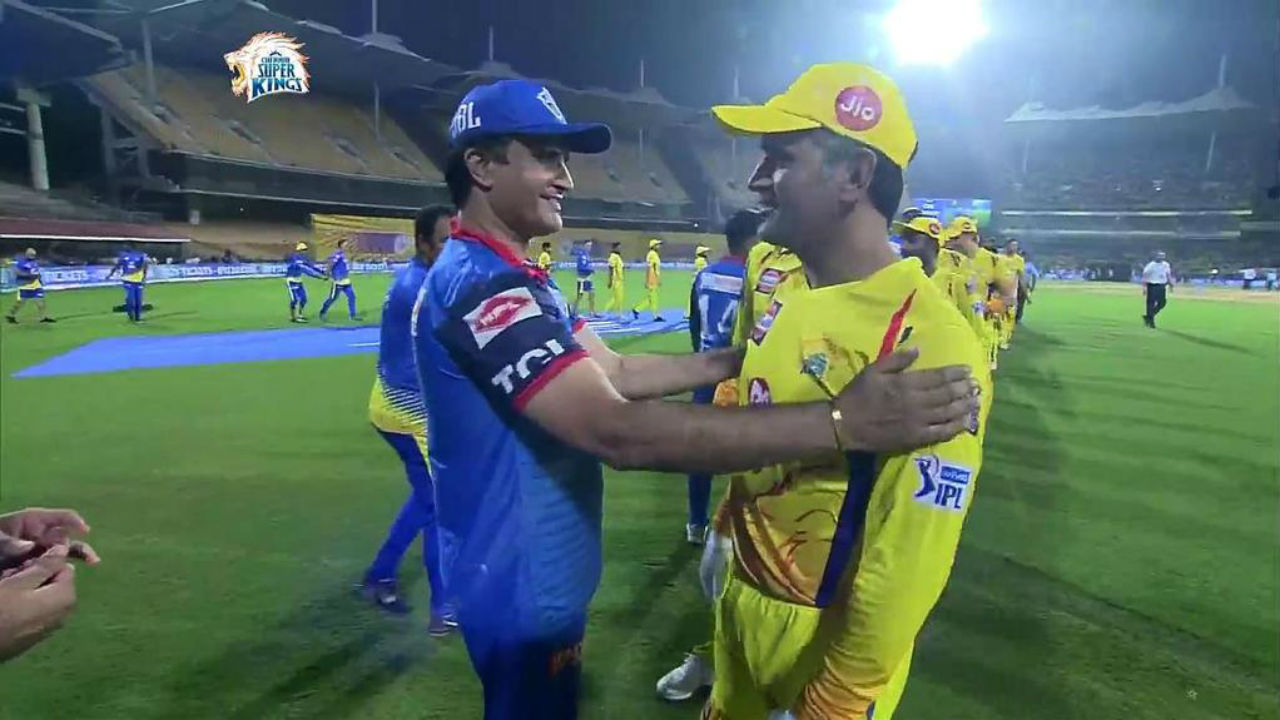 When Dhoni met Dada: Twitter reacts to MS Dhoni meeting Sourav Ganguly after CSK vs DC match in IPL 2019
