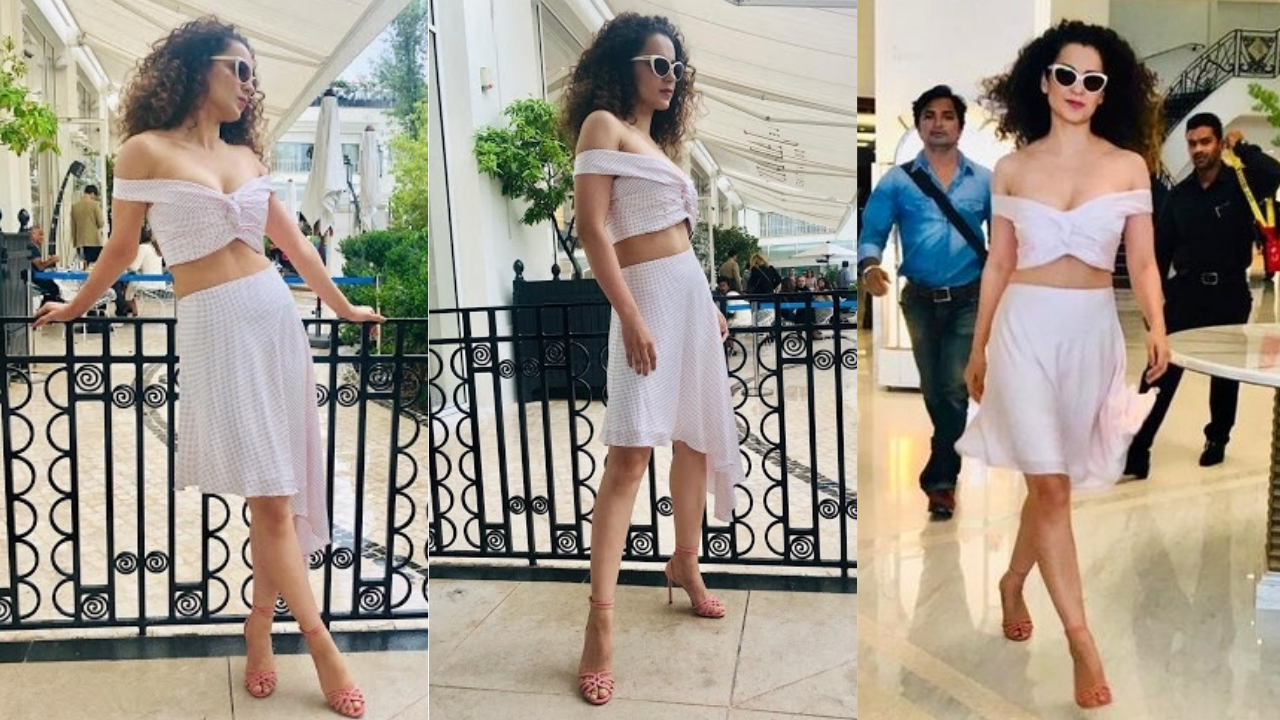 Cannes 2019: Kangana Ranaut flaunts her hard-earned mid-riff in sexy off-shoulder crop top on Day 3