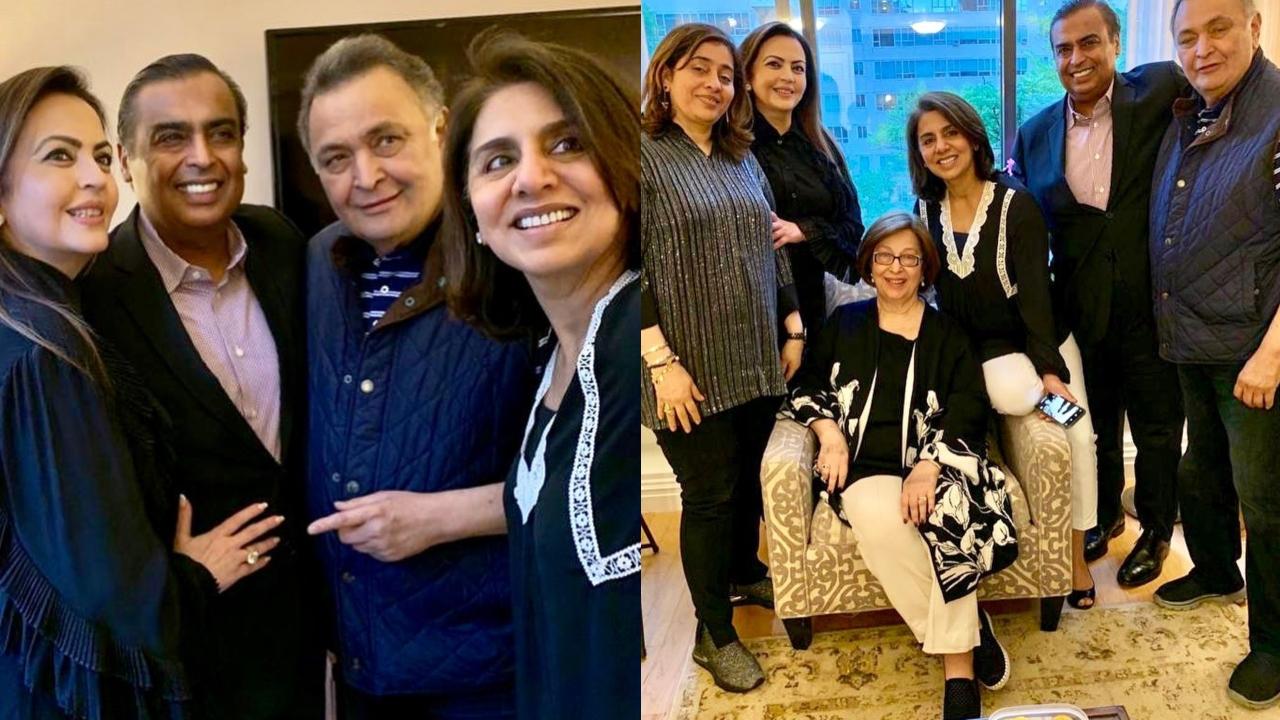 After Shah Rukh Khan, Mukesh Ambani-Nita Ambani shower love on Rishi Kapoor and Neetu Kapoor in New York