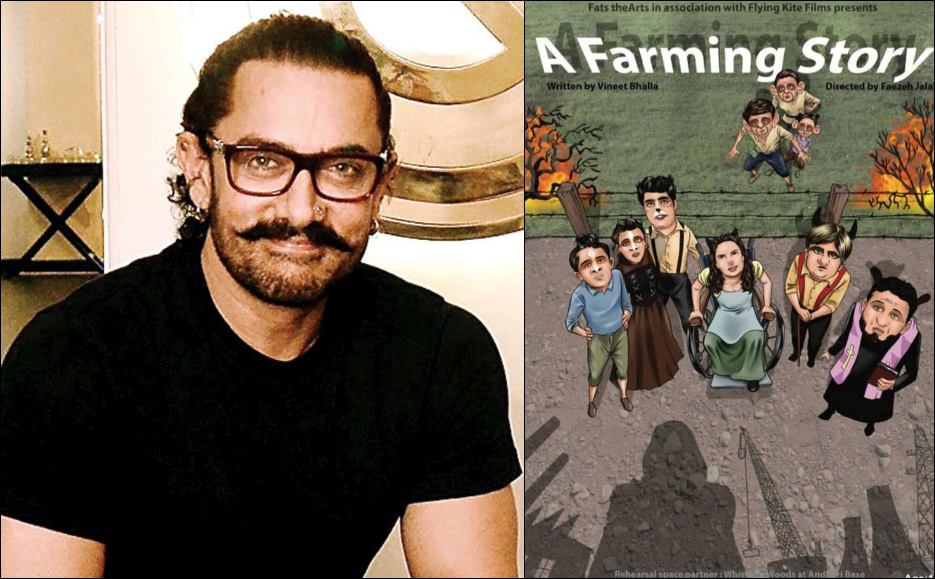 Proud father Aamir Khan watches his son Junaid's play 'A Farming Story'