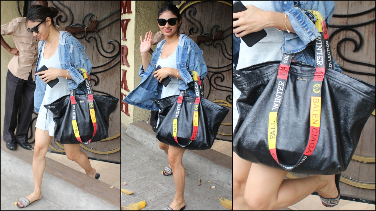 You won't believe how much Mouni Roy's black Balenciaga tote bag costs!