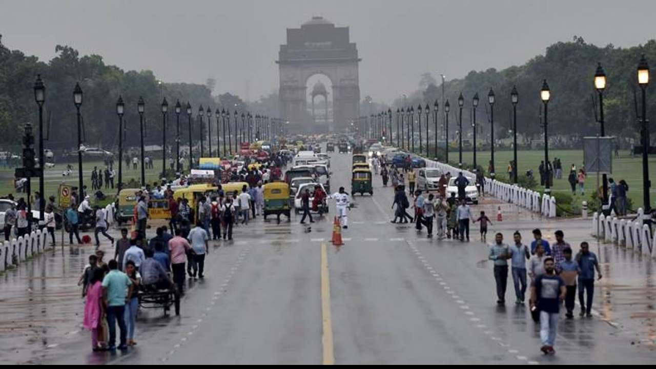 Light rain in Delhi-NCR brings relief from scorching heat, air quality moderate